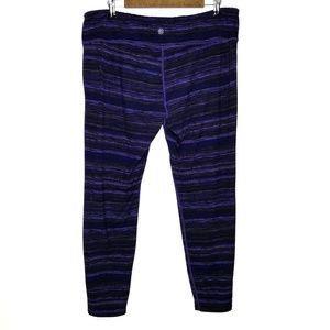 Athleta 2X Leggings Purple Print